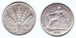 ® URUGUAY 1930 - 20 Centésimos PLATA - Uruguay