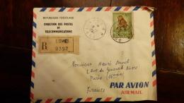 LETTRE (x Scans)  TOGO   REPUBLIQUE TOGOLAISE DIRECTION DES POSTES  LOME  POUR PARIS  VIGNETTE DOUANE - Togo (1960-...)