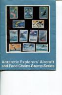(stamp 10) Australlia - AAT Australian Antarctic Exporers's Aircraft + Food Chain Stamps - Booklet + Mint Stamps - Australisch Antarctisch Territorium (AAT)