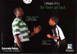 974 - ILE DE LA REUNION - Carte De PUB - Football - Joueurs Réunionnais - Celtic De Glasgw Et De Saint-Pierre - Saint Pierre