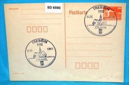 SD6590 775 Jahre Trebbin, Rathaus, 1712 Trebbin DD 4.9.1987 - Poststempel - Freistempel