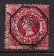 New South Wales 1860 Diadem One Shilling Red N 23 Used - 1850-1906 New South Wales