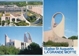 La Grande Motte Multivues : église Saint Augustin N°1552 Combier - Autres Communes