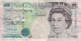 Grande-Bretagne - Billet De 5 Pounds - Elizabeth II & George Stephenson - 1 Pound