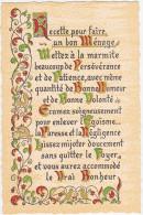 Belle Enluminure - Recette Pour Faire Un Bon Ménage ................ - Filosofia & Pensatori