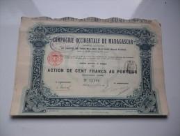 Cie OCCIDENTALE DE MADAGASCAR (1910) - Aandelen