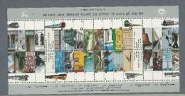 1992 Israel 100th Years Railway Jaffa Jerusalem Railway Mini Sheet Stamps Complete MUH (Mint Never Hinged) - Blocks & Sheetlets