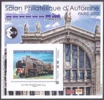 CNEP N° 64 De 2013 - Bloc Autoadhésif ( ___ A ) - Salon De D´automne  - France-Copenhague - Locomotive Pacific (train) - CNEP