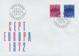 Switzerland 1972 FDC Europe CEPT - Europa-CEPT
