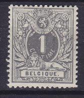 Belgium 1880 Mi. 23 C   1 C Ziffer Und Liegender Löwe Lion Perf. 14, Ownermark, MH* (2 Scans) - 1869-1888 Lion Couché (Liegender Löwe)