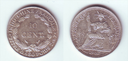 French Indochina 10 Cents 1937 - Vietnam