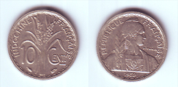 French Indochina 10 Cents 1941 (non-magnetic) - Viêt-Nam