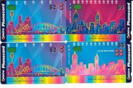 AUSTRALIA PUZZLE $2 & $5 HONG KONG CARD EXPO 1995 SYDNEY OPERA HOUSE & HK AUS-354--355 ONLY IN HK READ DESCRIPTION !!! ! - Australia