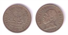 Haiti 50 Centimes 1908 - Haïti