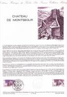 Document Philatélique Officiel, Château De Montségur, Lavelanet, 1984 - Castles
