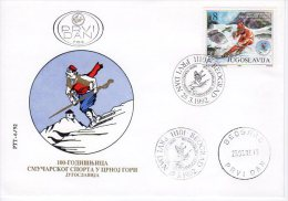 YUGOSLAVIA 1992 Centenary Of Ski Sports In Montenegro.  Michel 2530 - FDC