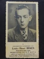 Louis-Henri Beken Oud-Strider 1940 Linckhout 1920 Mauthausen 1942 - Devotion Images
