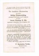 SINT-TRUIDEN - MEULEBEKE,  PRIESTERWIJDING  V. Rembertus VERTHE (Minderbroeder) 1913 - Historical Documents
