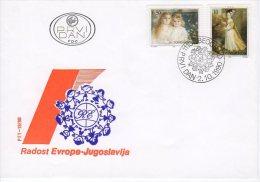 YUGOSLAVIA 1990 Joy Of Europe Children's Meeting FDC.  Michel 2440-41 - FDC