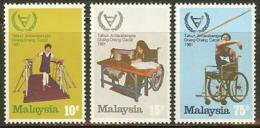 MALAYSIA 1981 MNH Stamp(s) Year Of The Disabled 219-221 #6054 - Stamps