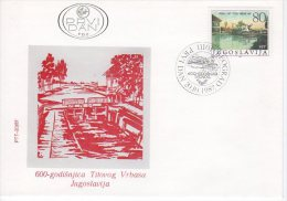YUGOSLAVIA 1987 Vrbas 600th Anniversary FDC.  Michel 2245 - FDC