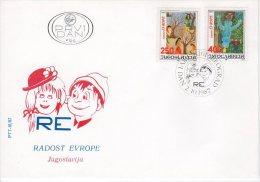 YUGOSLAVIA 1987 Joy Of Europe Children's Meeting FDC.  Michel 2241-42 - FDC