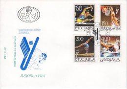 YUGOSLAVIA 1987 Universiade Games FDC.  Michel 2230-33 - FDC