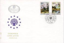 YUGOSLAVIA 1987 Nature Protection FDC.  Michel 2211-12 - FDC