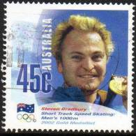 Australia 2002 Gold Medal Salt Lake City Winter Olympics 45c Steven Bradbury Used  SG 2713 - - - - Gebraucht