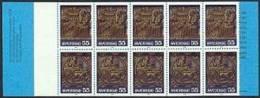 ZWEDEN 1975 Postzegelboekje  Kerkelijke Kunst 10x 55õre PF-MNH-NEUF - 1951-80