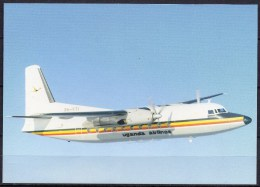 Carte Postale - Fokker F27 Mk600 - Uganda Airlines - Neuve - 1946-....: Moderne