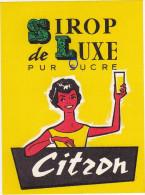 Ancienne Etiquette SIROP De LUXE PUR SUCRE - Citron - Fruits & Vegetables