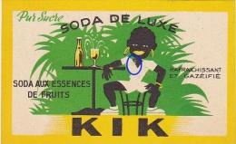 Ancienne Etiquette SODA De LUXE - KIK (Africain) - Fruits & Vegetables
