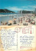 Sao Vicente, Brazil Brasil Postcard Used Posted To UK 1993 Meter - Brazil