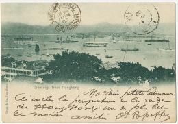 Greetings From Hongkong Edit Kruse P.used From Hong Hoi 1902 Indochina - Cina (Hong Kong)