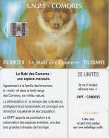 COMOROS ISL. - Maki(no Moreno Logo, Red CN At Centre), Chip SC7, Used - Comoros