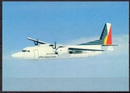 Carte Postale - Fokker 50 - Philippine Air Lines - Neuve - 1946-....: Moderne