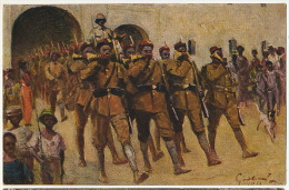 German Card Kolonial Kieger Spende By Frik Grotemeyer Station Jaunde WWI Guerre 1914 - Cameroun