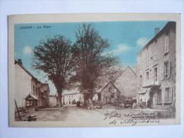 AR26. CPA CANTAL DIENNE LA PLACE HOTEL DE LA POSTE ANIMATION - France