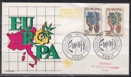 = Enveloppe Europa 1er Jour Exposition Philatélique Paris 16.9.57 N° 1122 Et 1123 - 1957