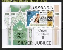 DOMINICA   Scott  # 526**  VF MINT NH Sheet Of 1 - Dominica (...-1978)