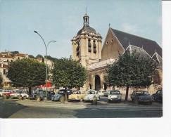 PONTOISE (95)Eglise Notre-Dame, Renault Dauphine, 4cv, Simca Elysée, Citroën 2cv, - Pontoise