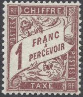 FRANCE TAXE 1893 1Fr Nº 40A - Postage Due