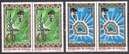 SENEGAL 1970 CHARKES DE GAULLE PAIR - Sénégal (1960-...)