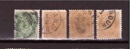 ICELAND 1882  Coat Of Arm 3 And 5 Aur  Michel Cat N° 12-13 Used Defectous - Oblitérés