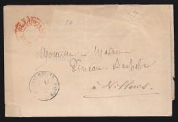 France - Lettre Sans Timbre 1882 - Port Payé Au Départ De Paris - Type Imprimé Rouge - PP26 / Bray Sur Seine - Marcophilie (Lettres)