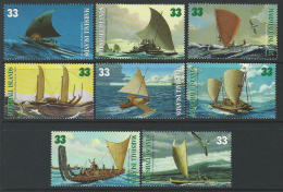 Marshall Islands 1999 SC 690a-690h MNH  Canoes Of The Pacific - Marshall Islands