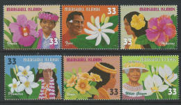 Marshall Islands 1999 SC 701a-701f MNH  Flowers  Of The Pacific - Marshall Islands