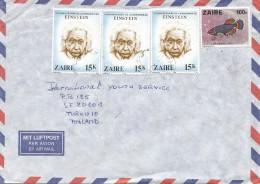 DRC RDC Zaire 1980 Kinshasa Duil Notobranchus Fish 100k Einstein Nobel Prize 15k Cover - Albert Einstein