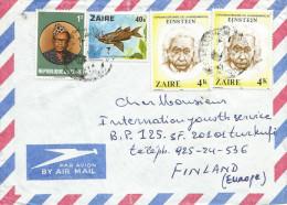 DRC RDC Zaire 1980 Mbuyi-Mayi Synodontis Fish 40k Einstein Nobel Prize 4k Cover - Albert Einstein